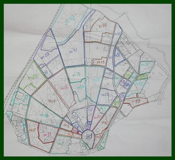 Карта парка, разбитая на